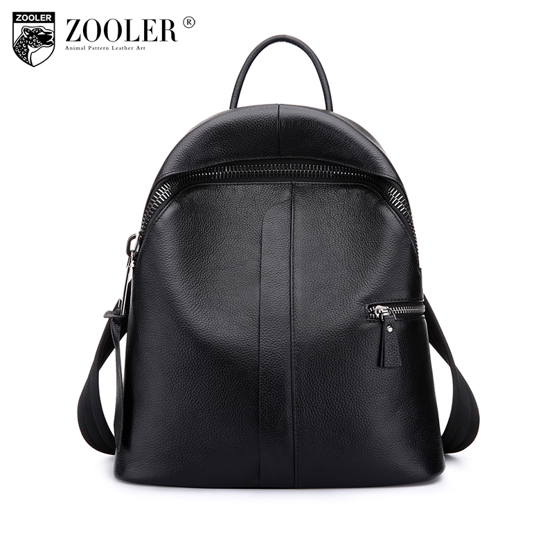 ZOOLER genuine leather backpack 2017 new listed style cowhide women backpacks real leather Brand large capacity bag #8385 zooler genuine leather backpacks 2016 new real leather backpack for men famous brand china hot large capacity hot 65055