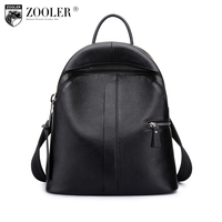 ZOOLER Genuine Leather Backpack 2017 New Listed Style Cowhide Women Backpacks Real Leather Brand Large Capacity