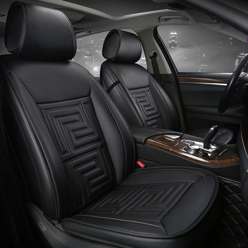 Housse de siège de voiture couvre les sièges en cuir pour dodge avenger calibre challenger chargeur dart durango 2017 2016 2015 2014