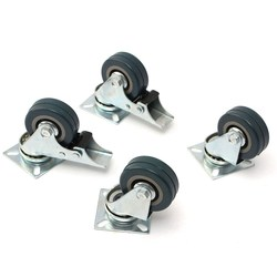 MTGATHER 4 ciężki x 50mm gumowe obrotowe kółka kółka na kółkach na kółkach meble kółka hamulca guma pvc ocynkowana stenty