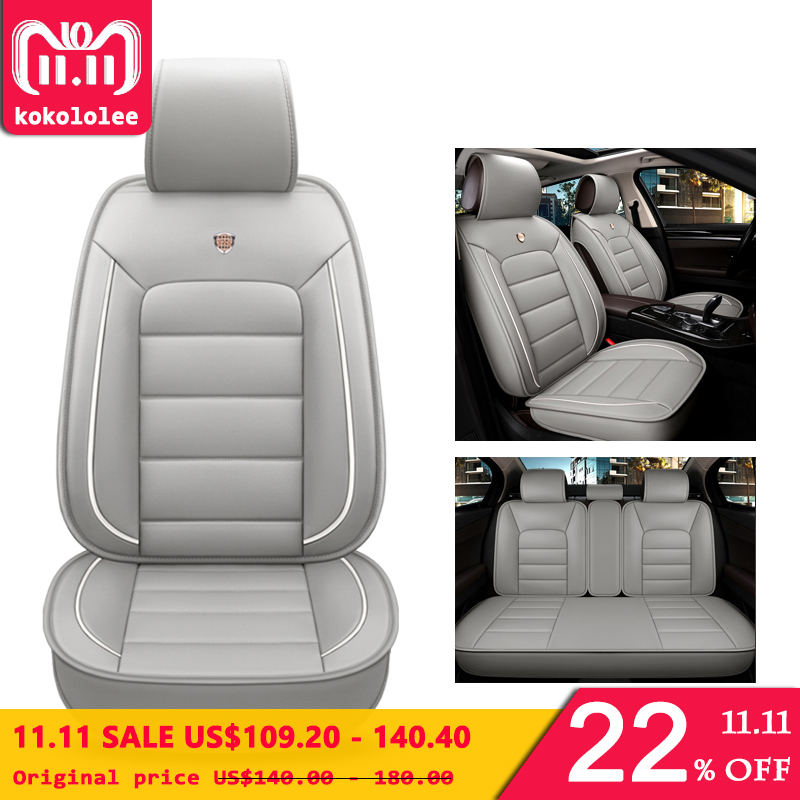kokololee pu leather car seat cover For kia sportage 3 renault scenic 3 chevrolet spark daewoo matiz car styling car accessories car styling metal car sticker accessories case for daewoo logo winstom espero nexia matiz lanos car styling automobiles