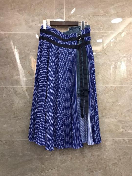 Jupe Nouveau Haut Split 2019 Pression Taille Mode Vêtements De Rayure 226 Femmes Cingulaire Gamme Joker 4RgqWwg7