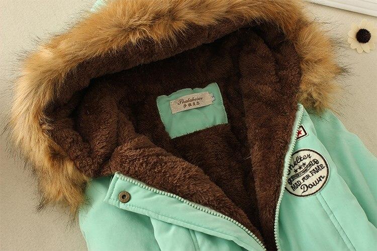 19 Winter New Women's Hooded Fur Collar Waist And Velvet Thick Warm Long Cotton Coat Jacket Coat 32