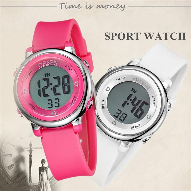 Digitale Uhren Herrenuhren Top Verkauf Ohsen Marke Neue Led Digital Display Mens Frauen Outdoor Sport Uhren 50 Mt Wasserdicht Tauchen Gelb Mode Uhr Hombre
