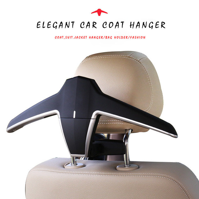 E-FOUR Suit Hanger Car Holder for Jacket Clothing ABS+Metal Bag Hook Seat Back Headrest Fasten Special for High Brand Car Hanger