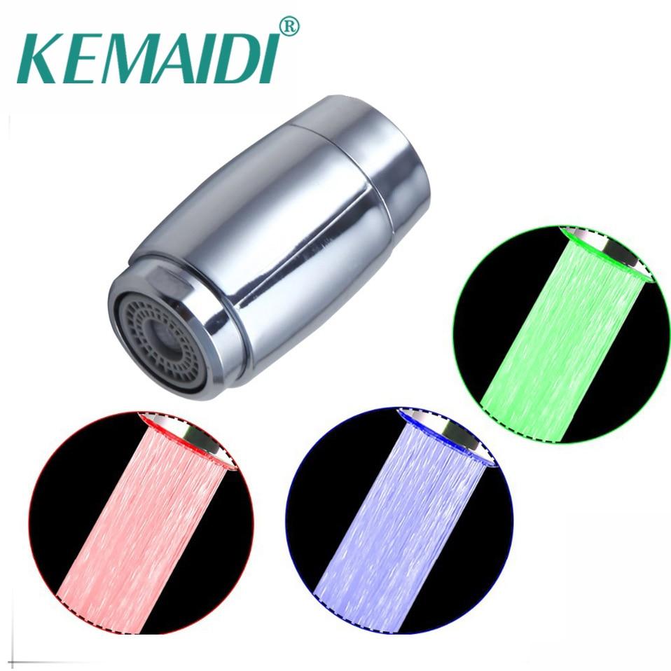KEMADIBathroom/Kitchen Price LD006/2 ABS Plastic Bathroom Faucet Spouts Bathroom Faucet Accessories LED Light