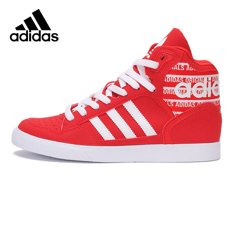 Official Official Adidas Originals EXTABALL W Women's High Top Skateboarding Shoes Sports Sneakers Leather New Arrival цена 2017
