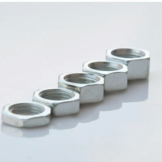20PCS 3,4,5,6,7mm Thick M10 Hex Nut Lamps DIY Accessories / Nut White Zinc / M10 Tooth Tube Parts