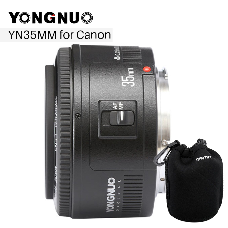 YONGNUO 35mm F2 Camera Lens for Canon EOS YN35MM F2.0 Lenses AF MF Wide Angle Lens for Canon EF Mount EOS Camera EOS 5DII 5DIII eos 10