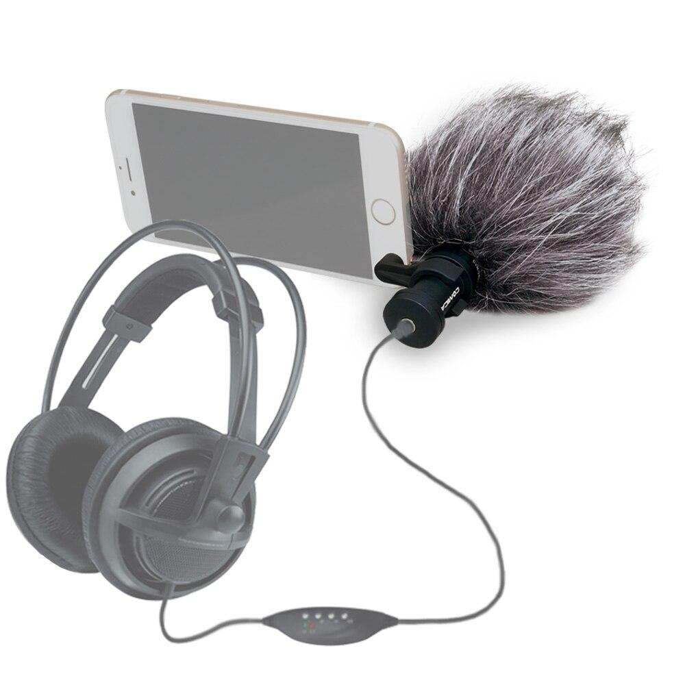 Micro pour iPhone, Ulanzi Comica CVM-VS08 enregistrement vidéo directionnel Microfone pour Smartphone Samsung