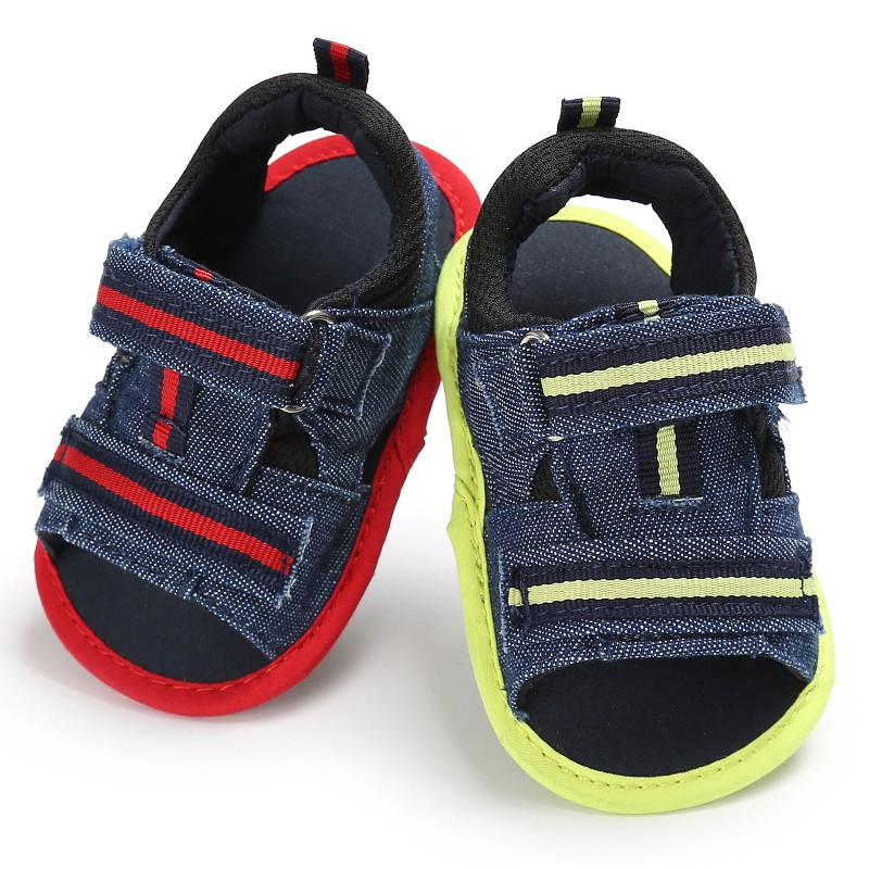 New Summer Handsome Newborn Baby Boys Kids Infant Toddler First Walkers Canvas Crib Bebe Prewalkers Cotton Padded Shoe