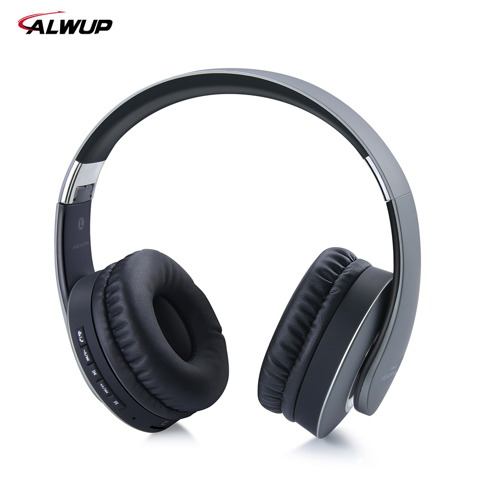 ALWUP Wireless Headphone Bluetooth Gaming headset stereo earphone for mobile phone computer with microphone MP3 music FM player sports wireless bluetooth stereo headset with fm tf card mp3 music player headphone