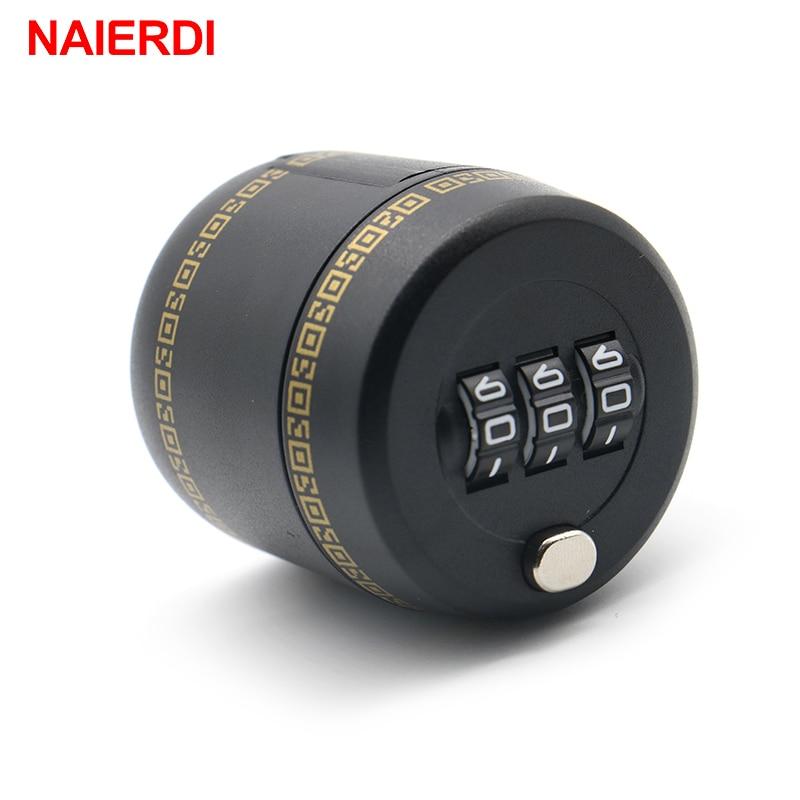 NAIERDI Plastic Bottle Password Lock Combination Lock Wine Stopper Vacuum Plug Device Preservation For Furniture Hardware