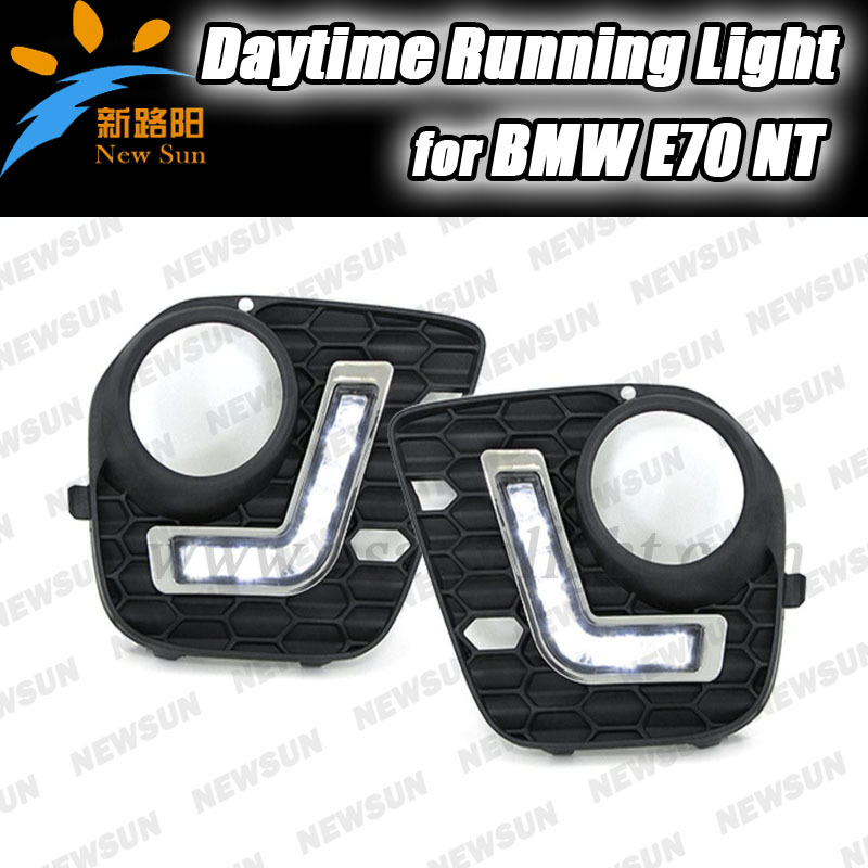 High Power led drl daytime running light with turn signal for  BMW E70 NT M-tech (2010-up) 10W Led drl daylight kit super bright 7000k xenon white 16w high power led daytime running lights kit for bmw 2010 2013 f10 528i 535i 550i m tech bumper only