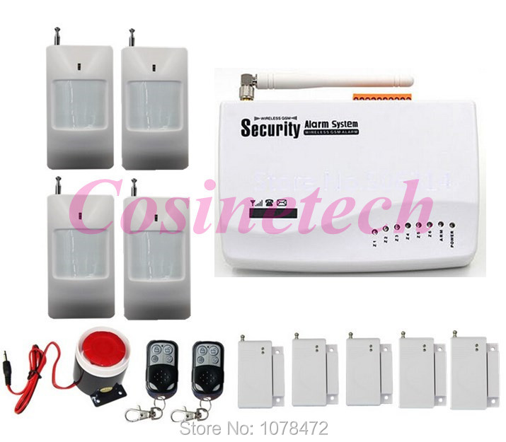 ФОТО wireless wired home security anti-theft alarm system with auto-dial function, cheap useful SMS home burglar alarm panel
