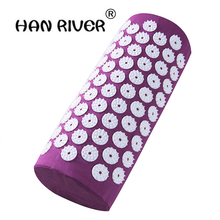 1 pieAcupressure Mat and Pillow two in One set Body Head Back Foot Massage Cushion Shakti Mat Yoga Message  free ship drop ship