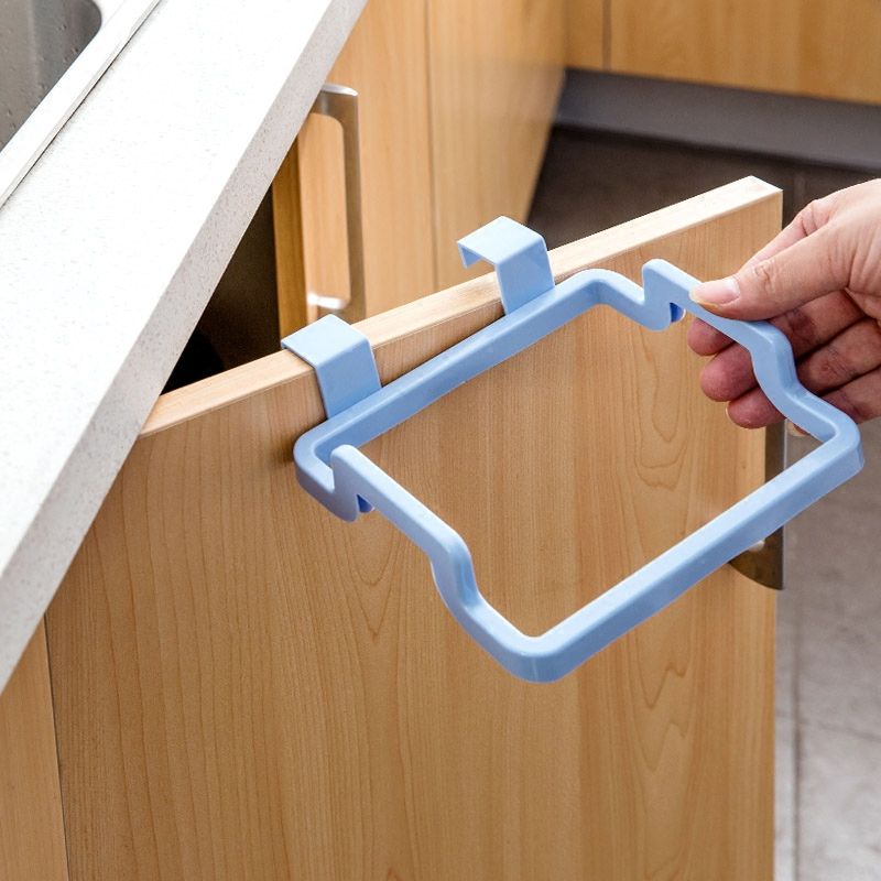 Hanging Kitchen Cupboard Door Back Style Stand Trash Garbage Bags Storage Rack Towel Rack Dish Cloth Hanger Frame Holder Cabinet-in Storage Holders u0026 Racks ... & Hanging Kitchen Cupboard Door Back Style Stand Trash Garbage Bags ... pezcame.com