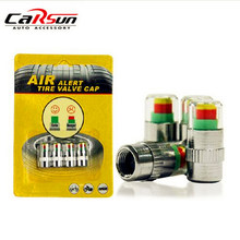 Universale Visiable 32 Psi 2.2 Bar Aria Avviso Avviso Valvola della gomma Sensore di Pressione Monitor Cap Luce di Indicatore Per Le Auto