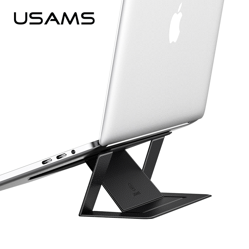 USAMS Folding Portable Laptop Stand Luxury Leather Bracket stand Viewing Angle/Height Adjustable Support 10-17 inch NotebookUSAMS Folding Portable Laptop Stand Luxury Leather Bracket stand Viewing Angle/Height Adjustable Support 10-17 inch Notebook