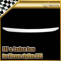 EPR FRP Fiber Glass Hood Bonnet Lip For NISSAN Skyline R33 GTR GTS Car Accessories Car