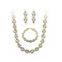 Ожерелье в виде пшеничного колоска, серьги, браслет, Модный Ювелирный Набор, подвески для невесты, для женщин, для влюбленных, Подарки, Прямая поставка, качество, настоящее золото, на платформе