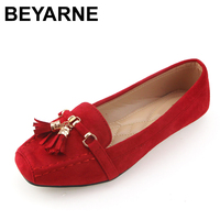 BEYARNE new arrival fashion women single shoes brand spring summer flat heel soft work shoes woman casual flats free shipping