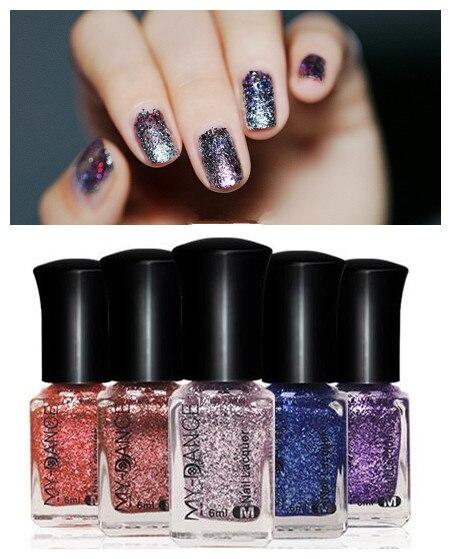 sparkling platinum nail polish