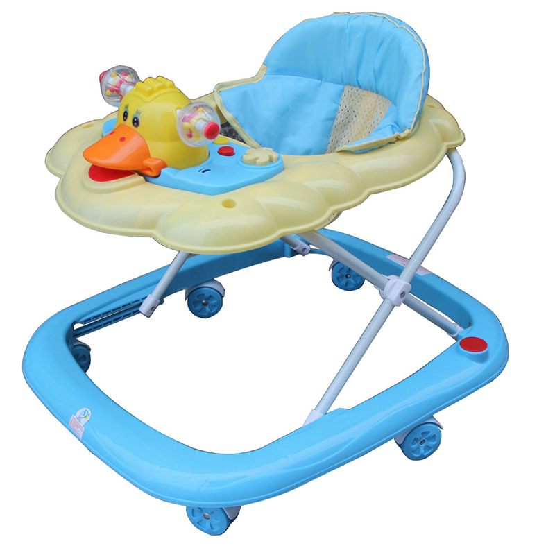 New Arrival Baby Walker Portable Light Weight Baby Toddler Walkers Anti Rollover Folding Easy With Music Toys Plate Andador hot sale u type baby walker portable light weight baby toddler walker anti rollover folding easy with music toys plate scooter