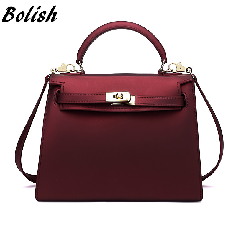 Bolish Sprind and Summer Candy Color Silica Gel Material Women Top-handle Bag Fa