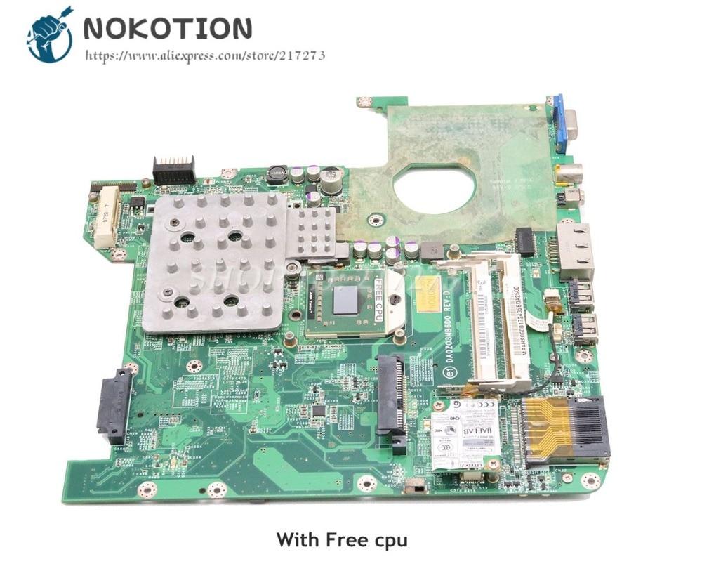 NOKOTION For Acer aspire 4520 Laptop Motherboard DDR2 7000M gpu Free cpu MBAHS06001 DA0ZO3MB6D0 MAIN BOARD nokotion laptop motherboard for acer aspire 5542 main board mbpha01001 48 4fn01 011 216 0752001 ddr2 free cpu