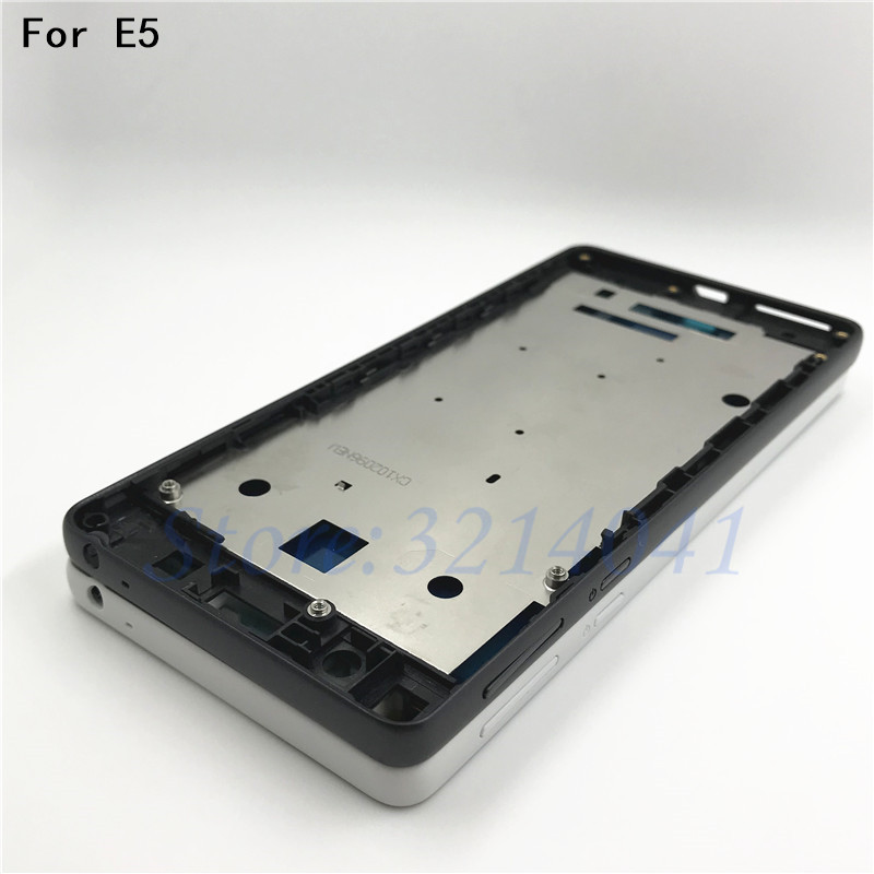 Mid Faceplate Frame For Sony Xperia E5 F3311 F3313 Middle Plate LCD Supporting Frame Bezel Housing + Side Key Dust Plug Parts