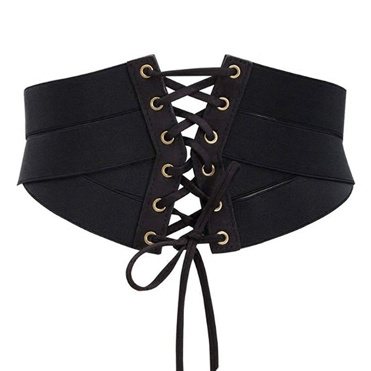 Women's Fashion Elastic Stretch Wide Band Corset Waist   Belt