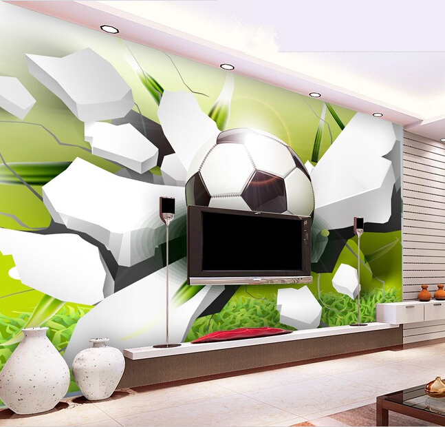 Custom papel DE parede infantil, 3 d football murals for the sitting room the bedroom TV setting wall paper  papel de parede custom european style wallpaper marilyn monroe for the sitting room the bedroom tv setting wall vinyl which papel de parede