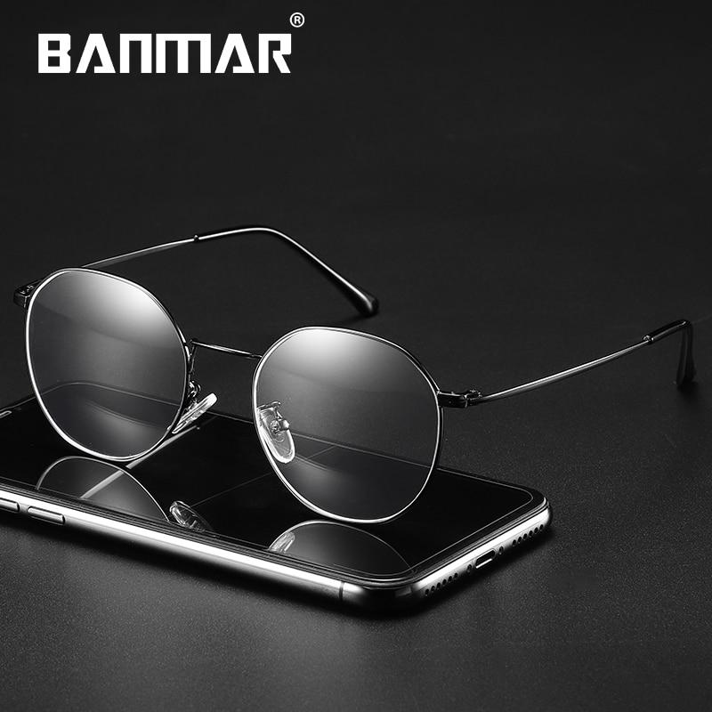 BANMAR Round Anti Blue Rays Glasses Light Blocking Filter Computer Gaming Glasses Eyeglasses Frame Myopia Optical Eyewear A5025 in Men 39 s Eyewear Frames from Apparel Accessories