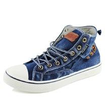 szsgcn414 Fashion Women High Top Canvas sneakers Shoes Women's Denim Ankle Lace Up Ladies Ankle Canvas Shoes Woman lovers 35-44
