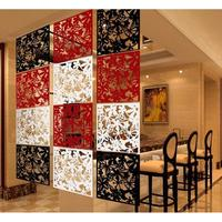 12 Pieces Birds Flowers Room Divider Folding Screens Space Wall Hanging Decor for Living Room White/Black/Red|Screens & Room Dividers|Home & Garden -