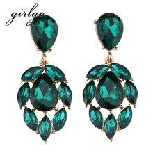 Girlgo Luxury Boho Fashion Statement Earrings For Women Gift Statement Multicolor Drop Dangle Earrings Trendy Wedding Jewelry