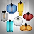 Креативный стеклянный подвесной светильник  современный подвесной светильник  украшение  подвесной светильник для спальни  гостиной  стол...