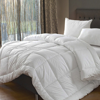 100% Cotton Down Comforter Quilted Polyester Filling, Hypoallergenic. All Season Duvet Insert or Stand-Alone Comforter (King)