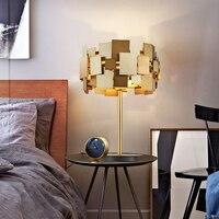 SGROW золото Нержавеющаясталь Таблица света Творческий Золото Настольная лампа для Гостиная Спальня моды прикроватная Lampara светильники