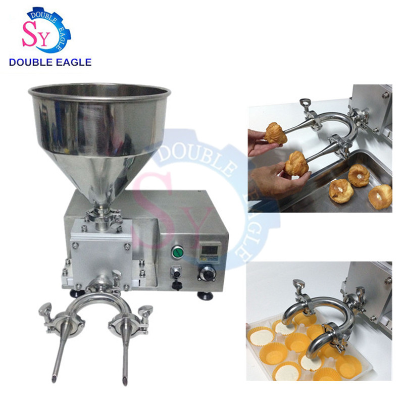 Wholesale Price Automatic Quantify Butter Puff Cake Filling Machine/bread Core Cream Injector