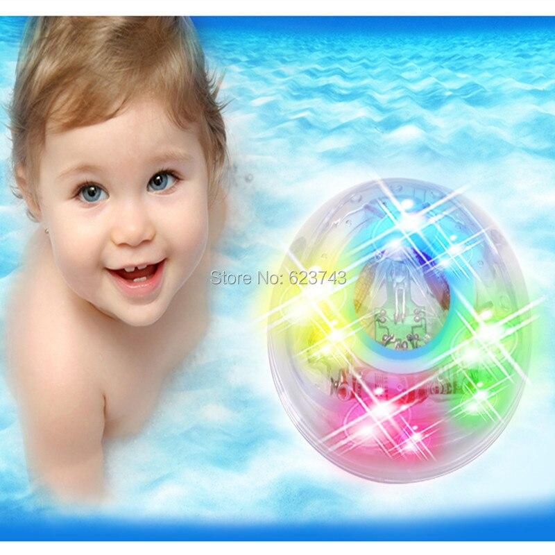 Free Shipping Color Changing Waterproof In Tub Bath Multicolor Light Bathtub Lamp Baby Bath Toy Light Kids Bathroom tub light