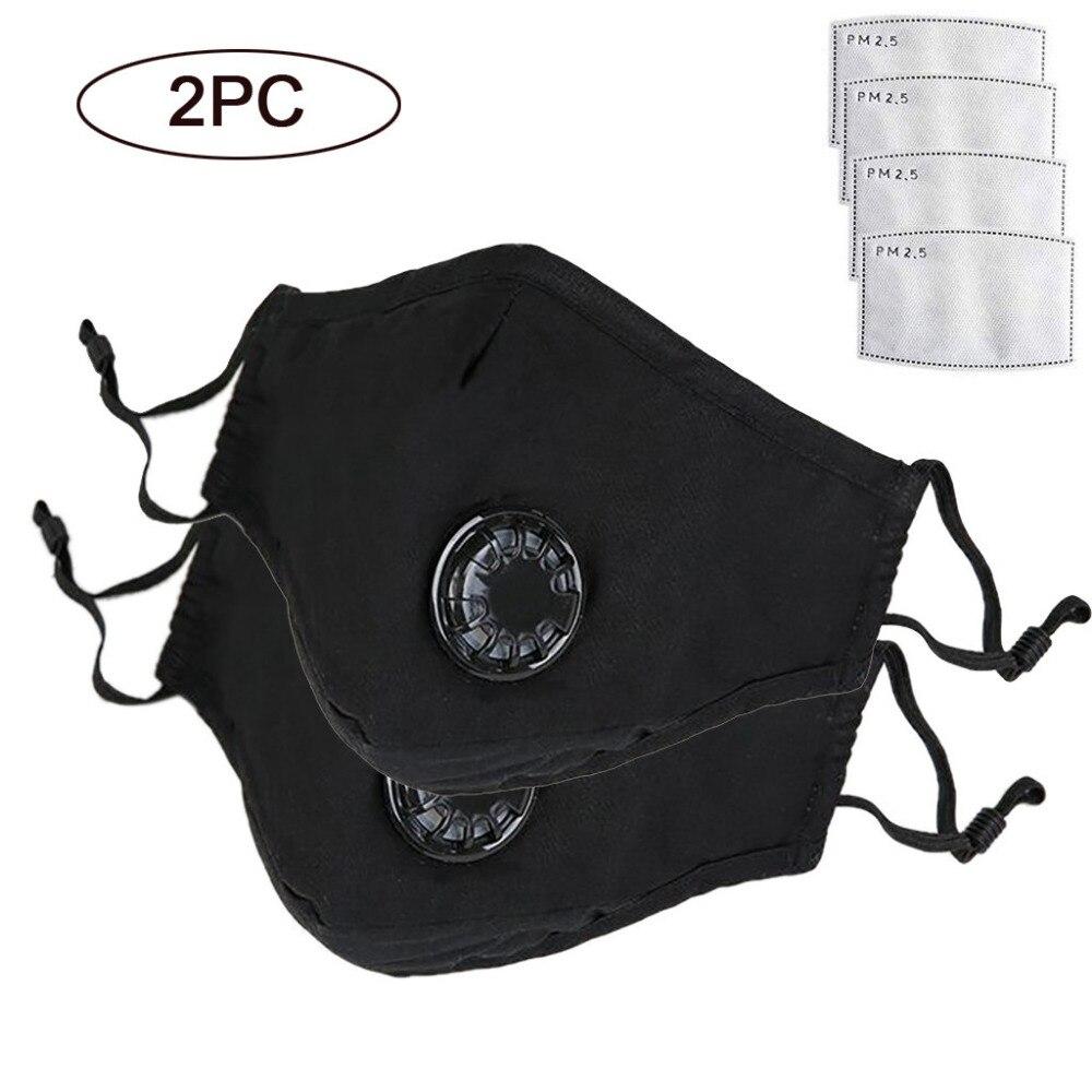 Consegna Veloce 2 Pz Anti Antipolvere Di Cotone Del Viso Bocca Viso Maschera Lavabile Regolabile Cinghie Di Particolato Respiratore Di Protezione Maschere Di Copertura Materiali Superiori