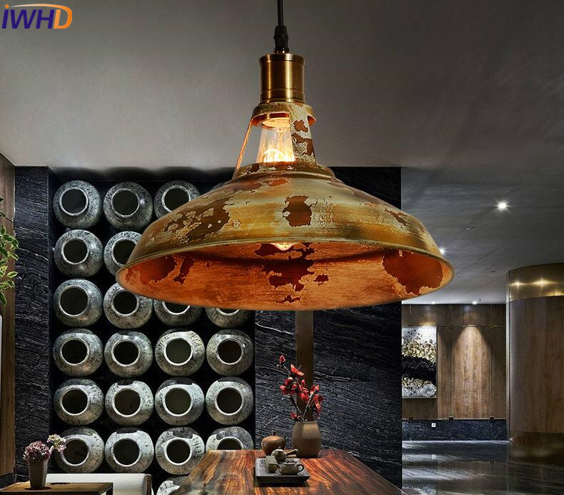 IWHD Vintage Industrial Lamp Loft Style Hanging Lamp Retro Iron Black Pendant Light Fixtures Home Lighting Kitchen Hanglamp iwhd american edison loft style antique pendant lamp industrial creative lid iron vintage hanging light fixtures home lighting