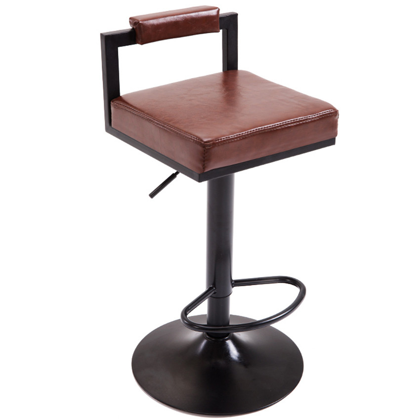 10 Colors Modern Swivel Bar Stool Height Adjustable Bar Chair With Footrest Pneumatic Coffee Counter Dining Pub Chair Barstool walnut bentwood adjustable height barstool chair w button tufted black vinyl seat bar furniture modern leather bar chair stool