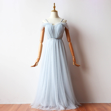Floor Length Wedding Party Dress  Blue Gery Bridesmaid Dress Sling Pleated  Back of Bandage v neck red bean pink colour above knee mini dress satin dress women wedding party bridesmaid dress back of bandage