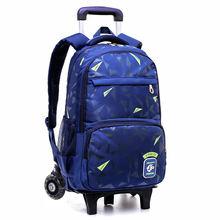 Детский Школьный рюкзак на колесиках со съемной тележкой детская