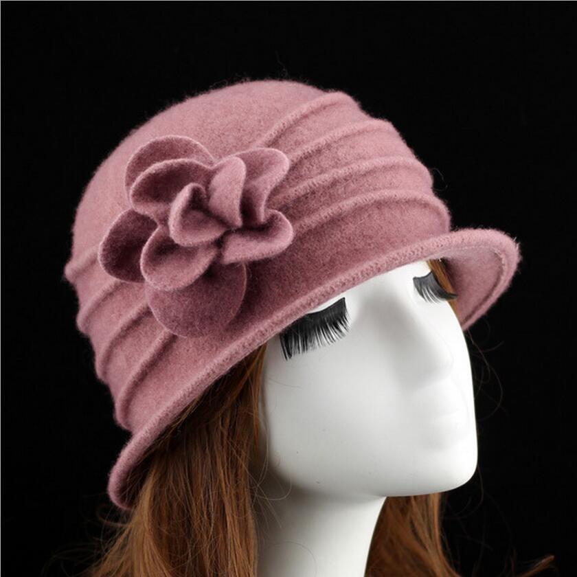 γυναικείο dome fedora 100% μαλλί καπέλο - Αξεσουάρ ένδυσης - Φωτογραφία 2