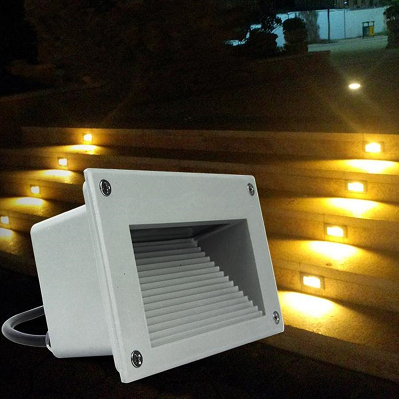 DHL 10pcs lot Outdoor LED Stair Light Waterproof Recessed Buried Lamp 3W 6W Path Yard Footway
