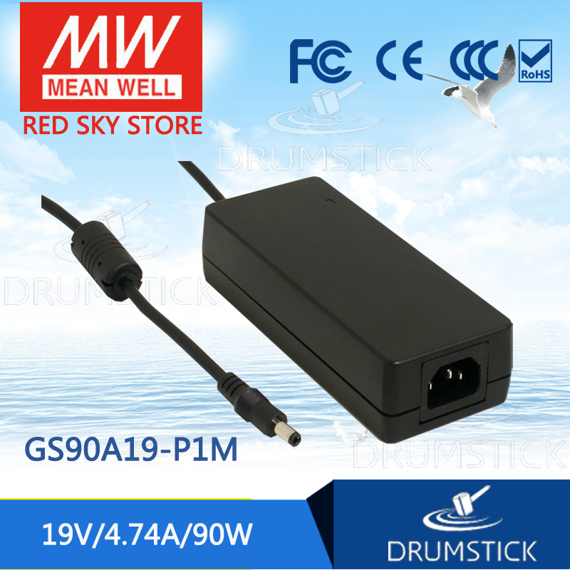 hot-selling MEAN WELL GS90A19-P1M 19V 4.74A meanwell GS90A 19V 90W AC-DC Industrial Adaptor фонарик crazy stuff shark light с брелком голубой 320240